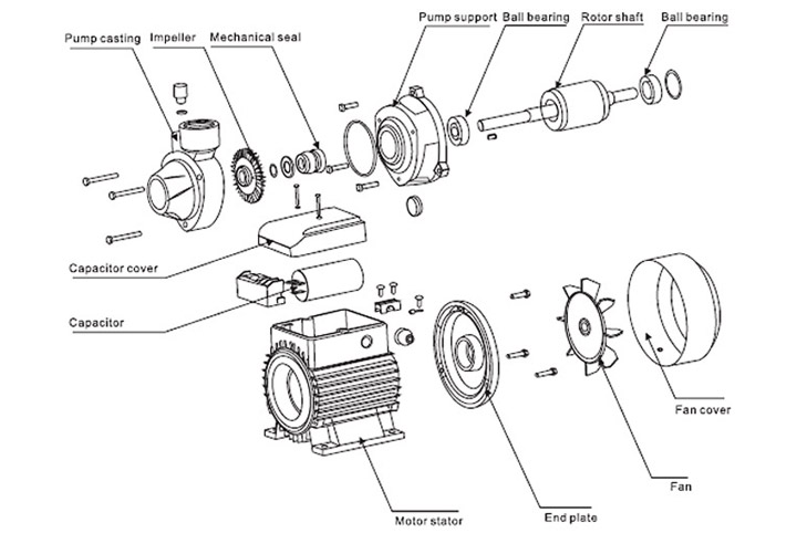 Motor Parts Diagram Parts Md Pumps